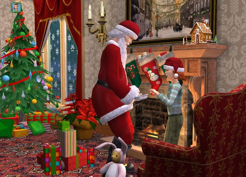 photo comment faire venir le pere noel sims 2